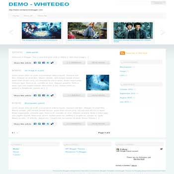 Whitedeo blogger template convert from wordpress theme to blogger with pagination blog ready also image slideshow template blog ready