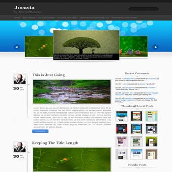 Jocasta blogger template converted from wordpress theme to blogger template with image slideshow blogger template and 4 column footer template
