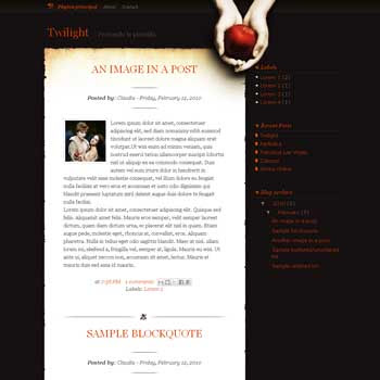 twilight blogger template converted from wordpress theme to blogger template