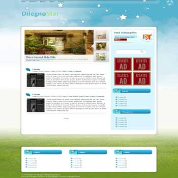 Dilegno Star blogger template convert wordpress theme to blogger template with magazine style blogger template with featured content also 3 column footer template blog