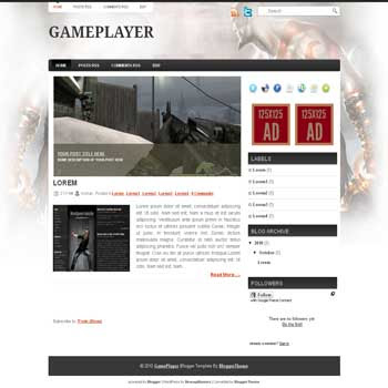 Game Player2 blogger template convert wordpress theme to blogger template with image slideshow blog templates for game blog template