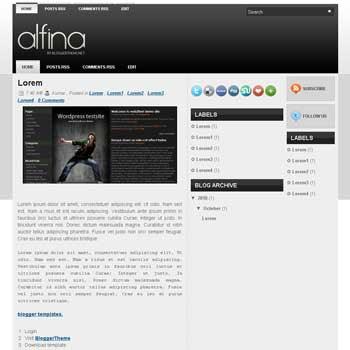 alfina blogger template convert wordpress theme to blogger template. This template is ads ready template blog