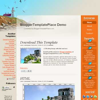 Life Book blogger template converted from css template to blogger template with 3 column template blogger