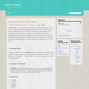 Retro Plain blogger template with 3 column template and ads ready blogger template