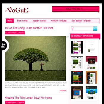 Vogue blogger template from wordpress theme with elegant style blogger template for blogspot template