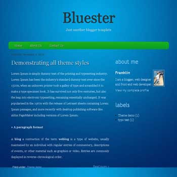 Bluester blogger template with clean blue template blog for clean blogspot template