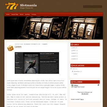 Slot Mania blogger template convert wordpress theme to blogger template. clean blogger template. elegant blogger template. blogspot template from wordpress