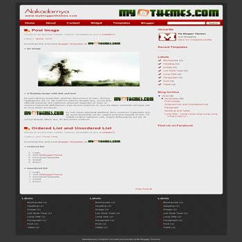 Alakadarnya blogger template with 3 column footer blogger template