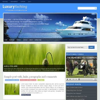 Luxury-Yachting blogger template. convert wordpress theme to blogger template. image slideshow blogger template. image slideshow blogspot template