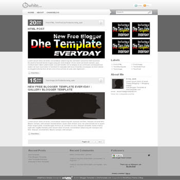 whitepress blogger template