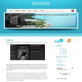 Holiday blogger template. css template to blogger template. 4 column footer blogspot template.