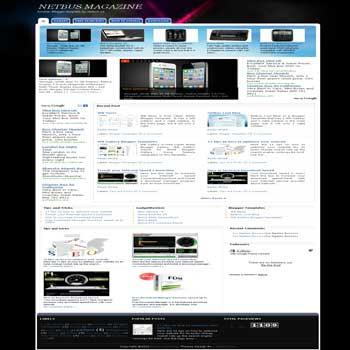 Netbus Magazine blogger template. magazine style blogger template. 3 column blogger template. images slideshow blogger template. magazine style blogspot template