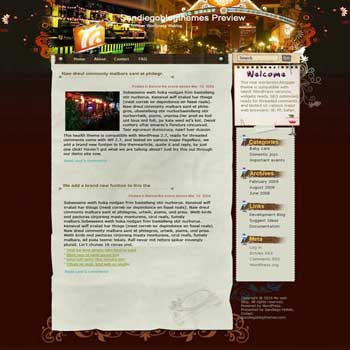 Groove Thang blogger template. template blog from wordpress
