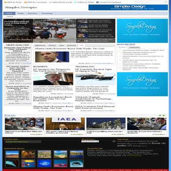 Simplex newspro free blogger template magazine style with feature content and slideshow blogger template