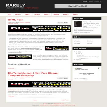 rarely live mag blogger template