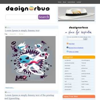DesignOrbus blogger template. 3 column footer template. template blog image slideshow