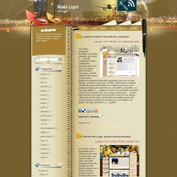 Ambi Light blogger template. template blog from wordpress. business template blog