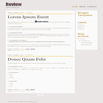 Review Template blogger template. minimalist template blog