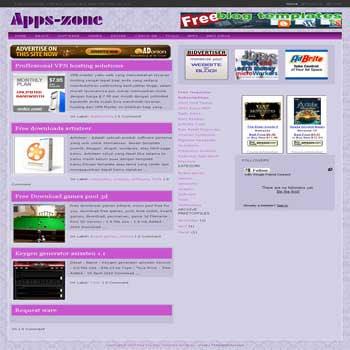 Apps-Zone blogger template. 3 column blogger template. ads ready blogger template. 3 column blogspot template