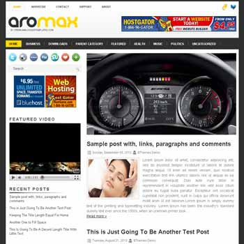 Aromax blogger template. pagination for blogger ready. magazine style template blog. image slider template blog