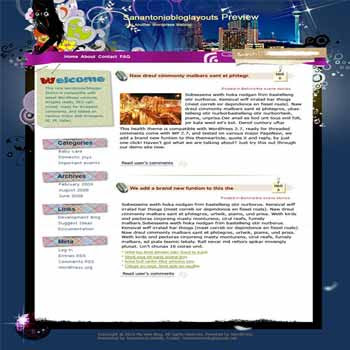 How about River Walk blogger template. template blog from wordpress