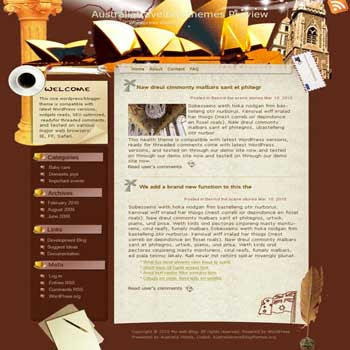 Australian Multiculture blogger template. template blog from wordpress. travel blog template