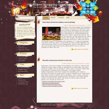 Girls Wonderland blogger template. template blog from wordpress