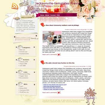 Ideal Wedding blogger template. template blog from wordpress
