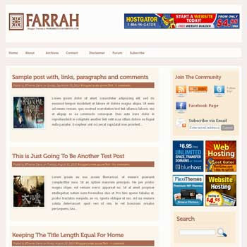Farrah blogger template. pagination for blogger ready. 4 column footer blogger template