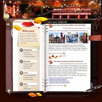 Germany in Your Eyes blogger template. template blog from wordpress. travel blog template