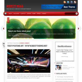 Reezy Mag template blog. convert wordpress theme to blogger template. template blog from wordpress theme. template blog content slider. magazine style blogger template