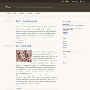 Titan blogger template. minimalist blogger template. convert wordpress to blogger template. 3 column blogger template