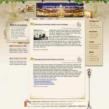 Columbus Hospitality blogger template. template blog from wordpress