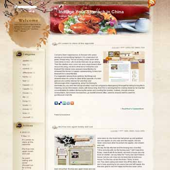 Indulge Your Stomach in China template blog from wordpress. travel blog template. template blog from wordpress. travel blog template