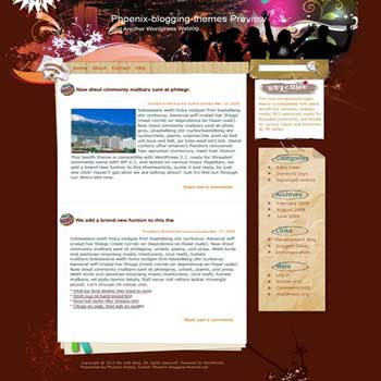 Night Is Young blogger template. template blog from wordpress