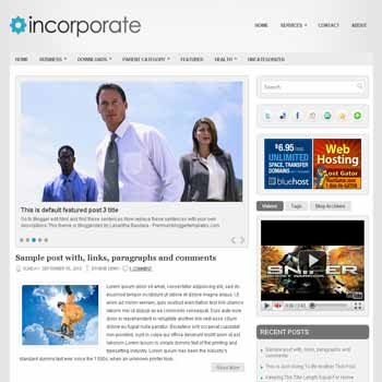 Incoporate blogger template. pagination for blogger ready. magazine style template blog. image slider template blog