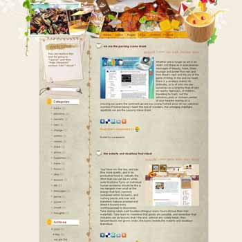 Amazing Taste You Nerver Get blogger template. template blog from wordpress