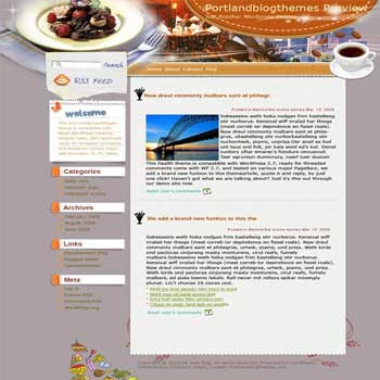 Top Chefs Great Dinner blogger template. template blog from wordpress