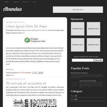 Abundas blogger template. christmas theme blog. template blog image slider