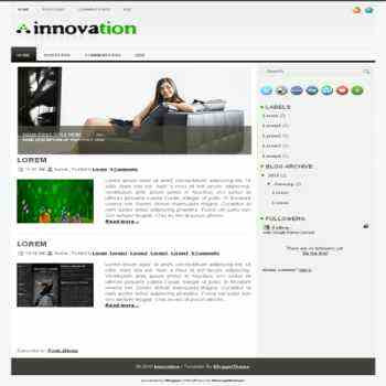 Innovation blogger template for wordpress theme. image slideshow blog template.image slideshow blogspot template blog. clean game template blog