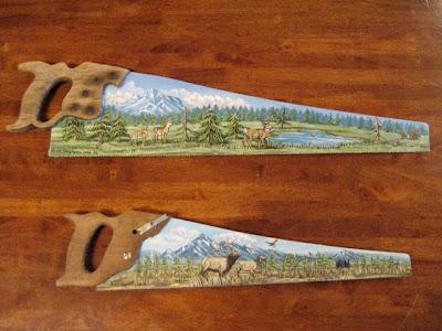 kristy stephens custom painted saw blades