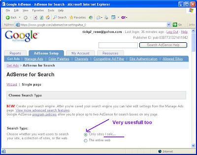 adsense search