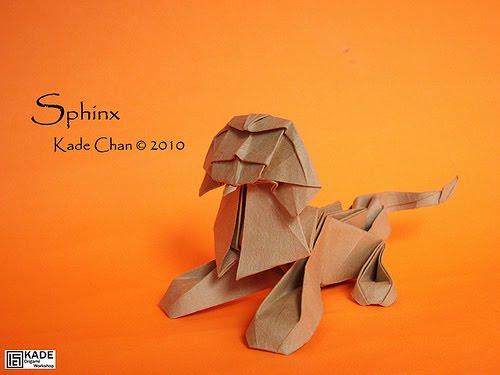 Оригами сфинкса 12