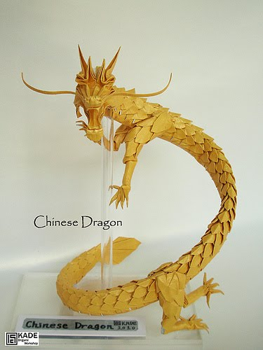 Origami chinese dragon head