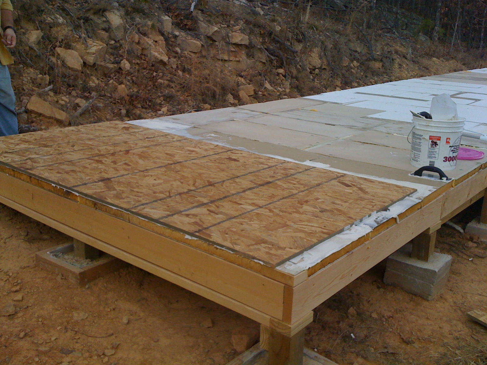 OSB Subfloor Layer And Framing The Walls