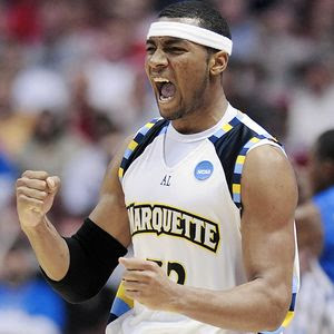Lazar Hayward showing emotion at Marquette