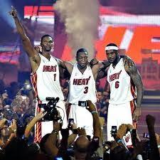 Chris Bosh, LeBron James, D'Wayne Wade