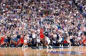 Michael Jordan hitting a game-winning shot