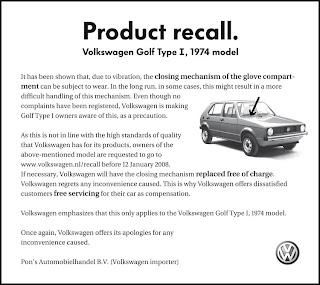volkswagenrecall Product recall | DDB Amsterdam