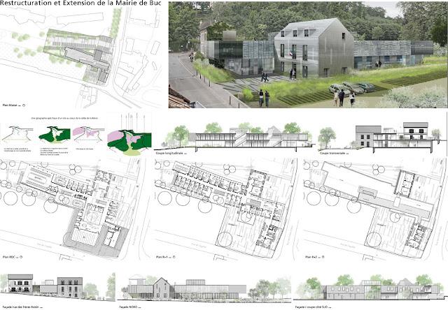 marc franco architecte restructuration et extension de la mairie de buc yvelines. Black Bedroom Furniture Sets. Home Design Ideas